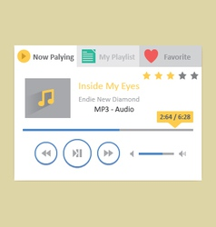 Music player 18 vector