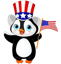 Patriotic penguin vector image