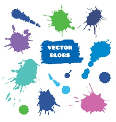 Colorful blobs set vector