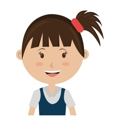 Smiling avatar girl graphic vector