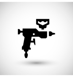 Paint gun icon vector