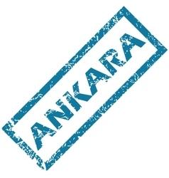 Ankara rubber stamp vector