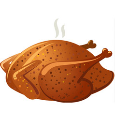 Baked roasted chicken vector