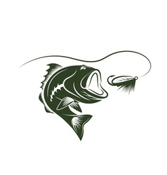 bass and lure design template vector image