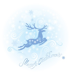 Christmas and New Year card with reindeer vector image vector image