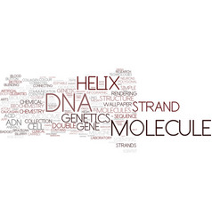 dna word cloud concept vector image