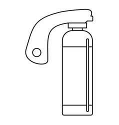 fire extinguisher icon outline style vector image