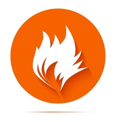 Fire flat icon vector image vector image