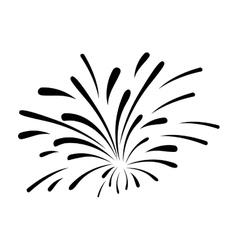 fireworks burst design vector image