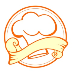 Food and Cook Emblem vector image
