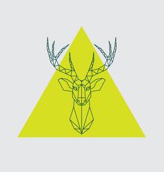 geometrical head reindeer vector image vector image