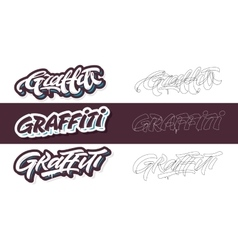 Graffiti lettering titles vector