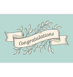 Greeting card with inscription congratulations vector
