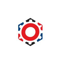 Hexa gear logo vector