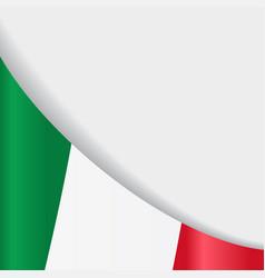 italian flag background vector image