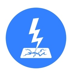 Lightning bolt icon in black style isolated on vector