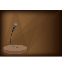 Modern Microphone Background vector image