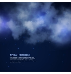 Night sky with stars and clouds abstract vector image