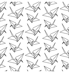 Origami paper bird pattern vector