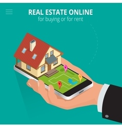 Real estate Online for buying or for rent Man vector image