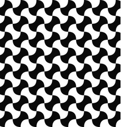 Seamless black and white curved shape pattern vector