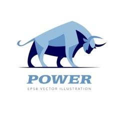 standing bull vector image vector image