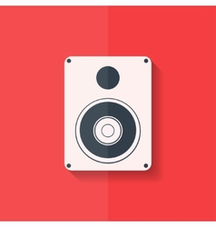 Subwoofer web icon flat design vector