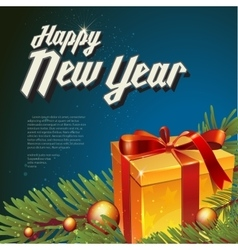 with new year lettering vector image vector image