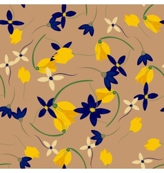 Seamless flower retro background pattern in vector image