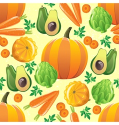 Orange vegetables seamless vector