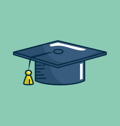 hat graduation handmade drawn vector image