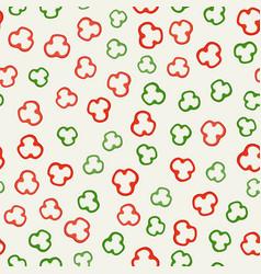 pepper slices pattern vector image