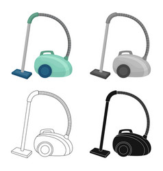 vacuum cleaner icon in cartoon style isolated on vector image