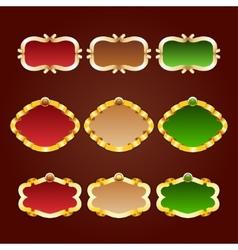 set of template frames vector image