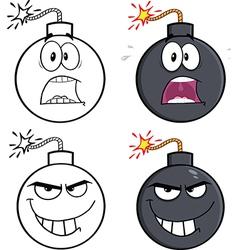 Cartoon bombs vector image