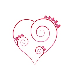 Valentines day decorated heart vector