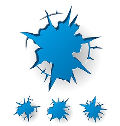 White cracked background vector