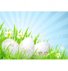 spring field Easter vector image