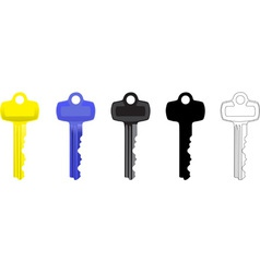 Door key vector