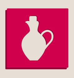 Amphora sign grayscale vector