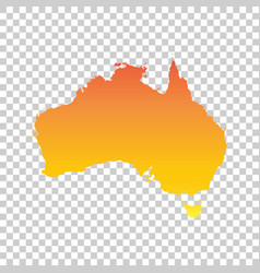 Australia map colorful orange vector