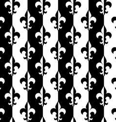 Black and white alternating Fleur-de-lis half and vector image