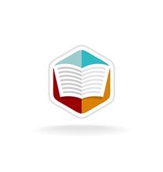 Book logo vector