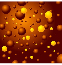 Bubbles sphere brown yellow background vector