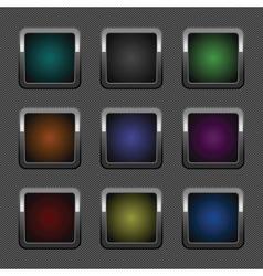 chrome web button vector image
