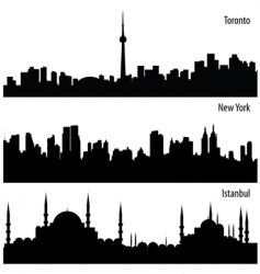 Cityscape collection vector