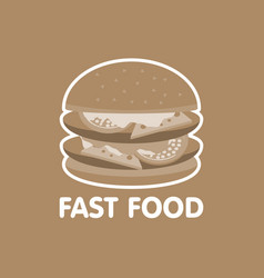 Fast food burger icon concept vector