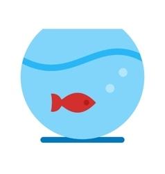 Fish bowl vector