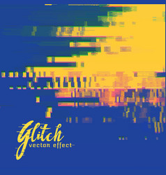 glitch signal error background in duotone colors vector image