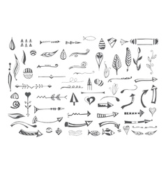 Hand drawn different elements vector